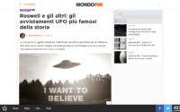 Avvistamenti UFO più Famosi della Storia