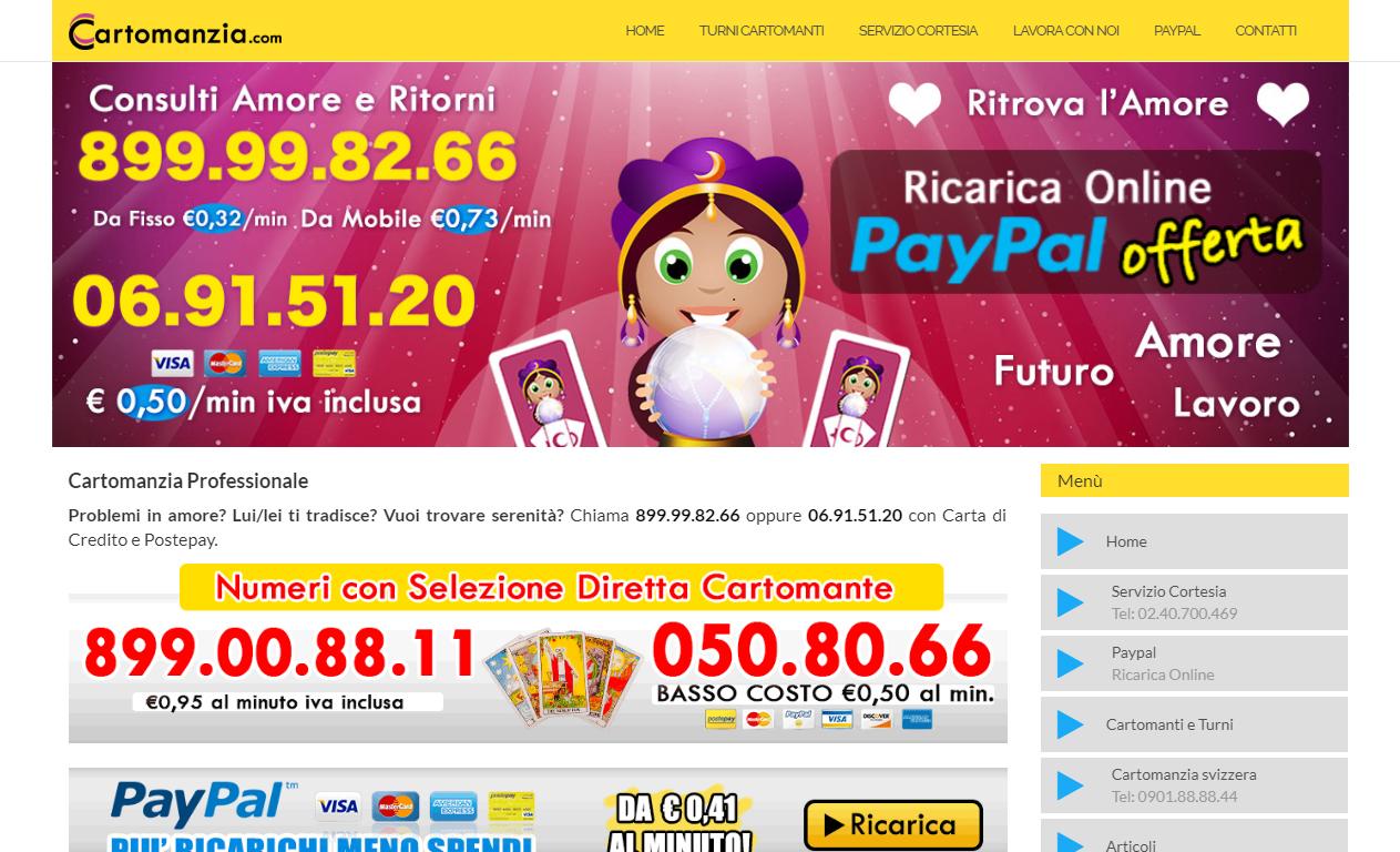 Cartomanzia.com Consulti Professionali a Pagamento